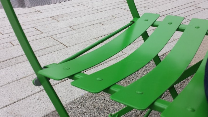 Green Seating at Klyde Warren